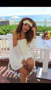 dress,jadah,jadah doll,white,white dress,flowers,flower crown,beach,beach dress,Jadah Doll hair