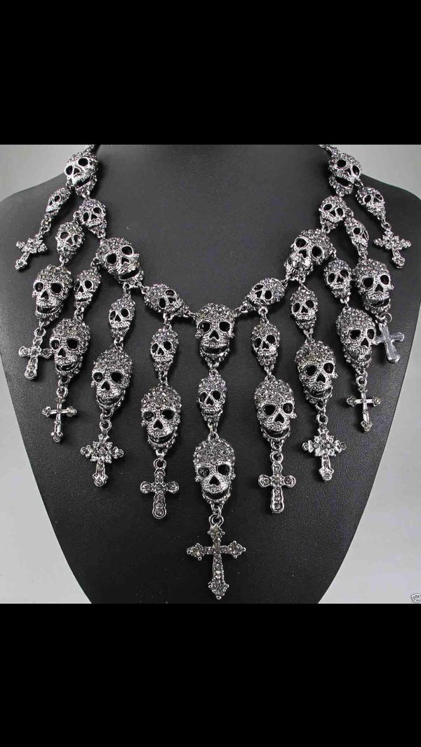 jewels sketchjewelry jewelry necklace skull necklace fashion metal metal necklace silver necklace style trendy bohemian sketchjewry statement necklace