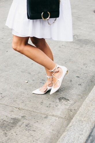 shoes blogger white shoes strappy flats damsel in dior spring outfits mynystyle