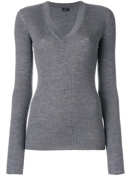 Joseph jumper women silk wool grey sweater