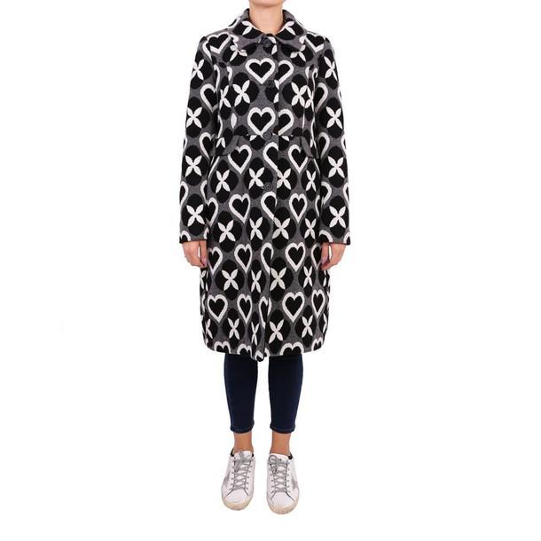 Twin-Set coat wool white black grey
