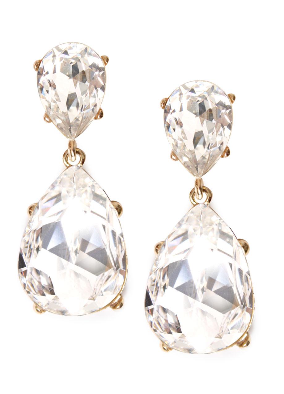 Bgo & me: Pendientes dorados con cristal tallado