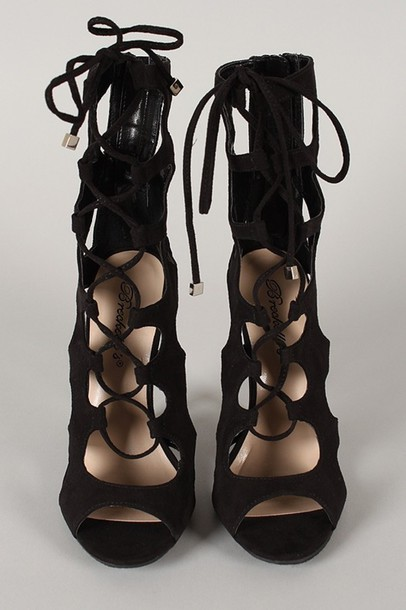Shoes: gladiators, high heels - Wheretoget