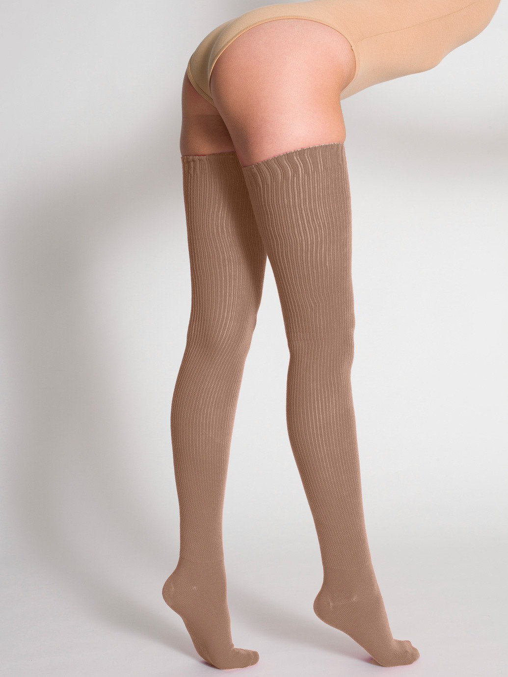 Cotton Solid Thigh-High Socks | American Apparel
