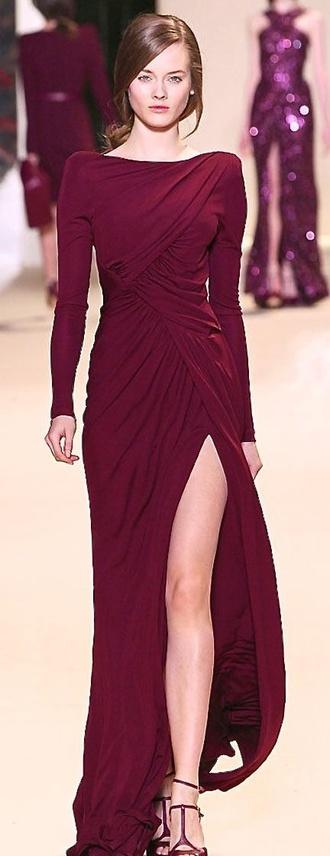 formal long sleeves dress formal dress winter formal burgundy maroon/burgundy maroon dress winter dress winter formal dresses long sleeve dress