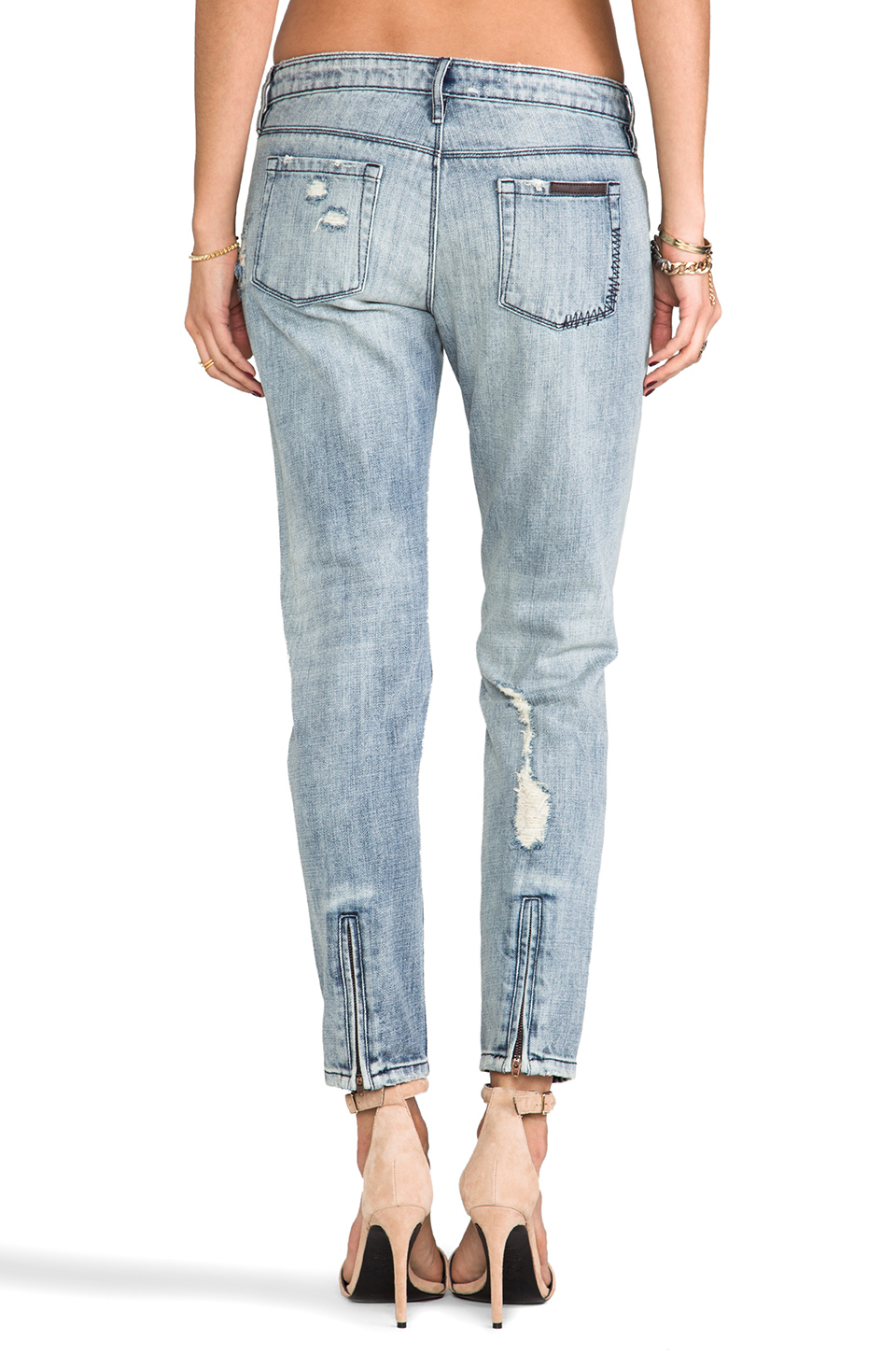 Sass & Bide How It Starts Distressed Skinny in Washed Indigo | REVOLVE