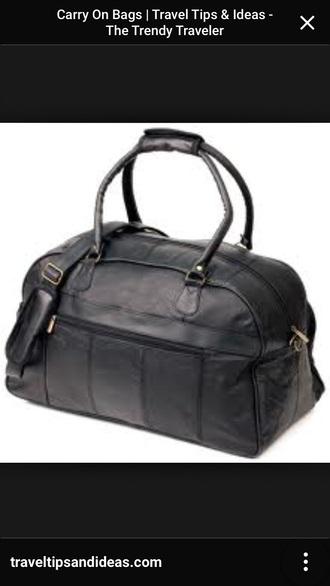 bag black black bag travel travel bag overnighter black leather bag mens holdall