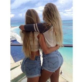 shorts vibes summer shorts blonde hair booty butt ass girly girls short shorts booty short top