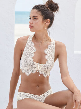 underwear lingerie lace lingerie sara sampaio model bra bralette victoria's secret victoria's secret model