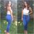 Super High Waist Denim Skinnies - Medium Blue | Fashion Nova
