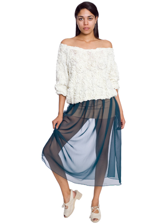 Chiffon full length skirt