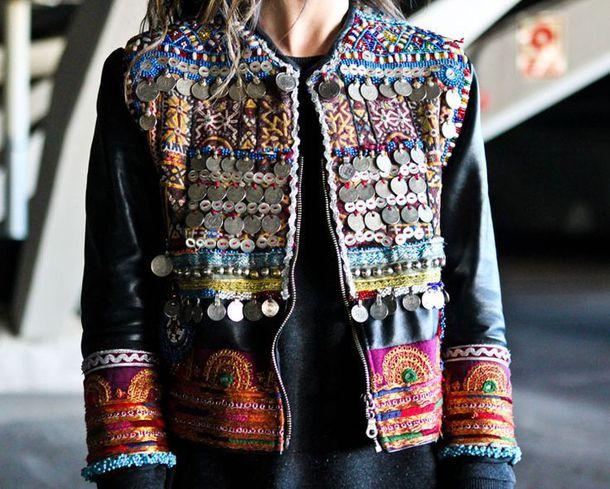 jacket embellished embellished jacket boho boho chic boho jacket black jacket embroidered. Black Bedroom Furniture Sets. Home Design Ideas
