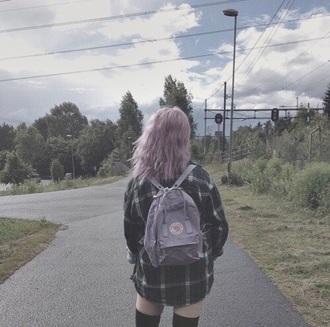 bag backpack grunge flannel
