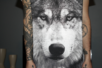 shirt wolf menswear clothes tumblr wolves eyes tattoo t-shirt hipster band t-shirt topshop goth hipster bag animal girl dog woof dark black grey grr animal print