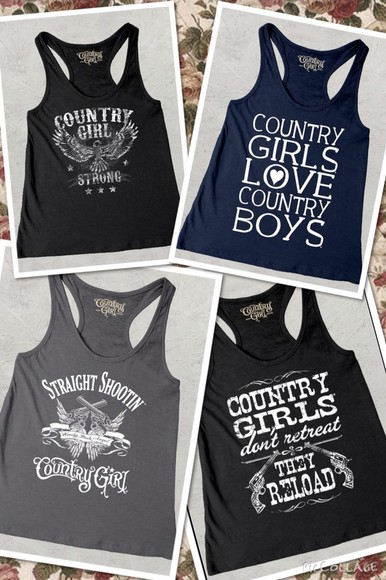 tank top blue shirt country black grey country girl graphic tank top sexy sexy clothes country outfit country style
