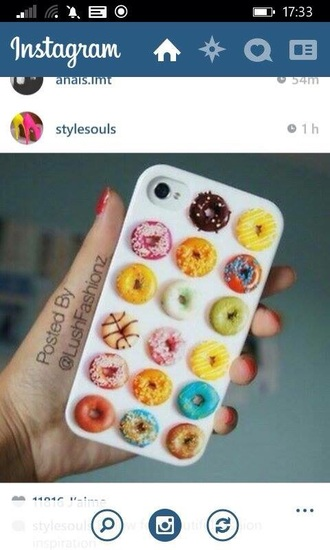 phone cover donut funny
