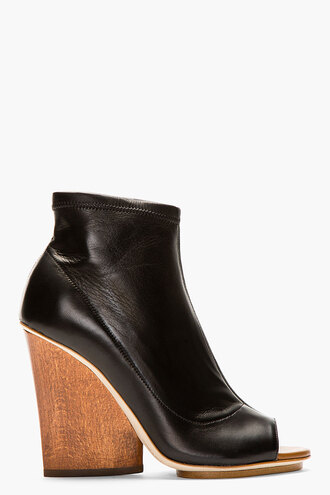 wedge women shoes boots stretch ankle