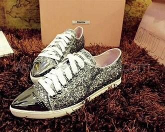 shoes sparkly shoes miu miu