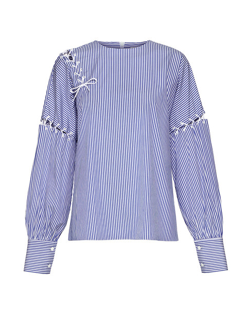 Tibi top lace blue