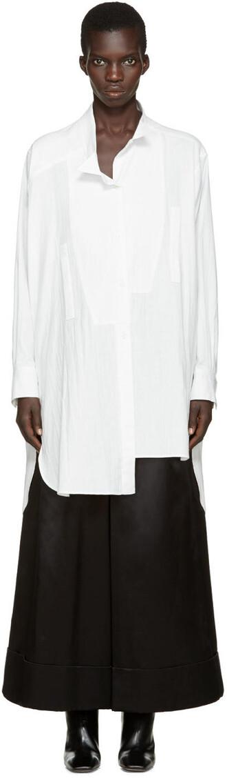 shirt asymmetric shirt white top