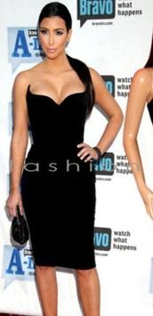 dress,little black dress,black,strapless dress,strapless,lbd tube mini dress,kim kardashian,kimye