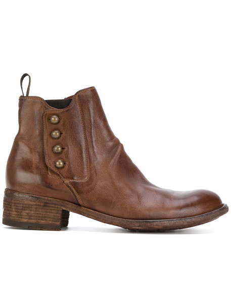 OFFICINE CREATIVE women leather brown shoes