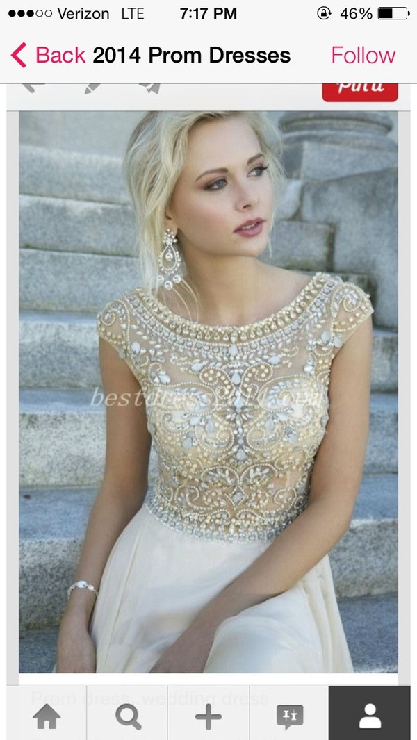 dress long dress beaded prom dress beaded graduation dress elegant