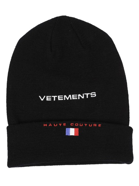 Vetements embroidered beanie black hat