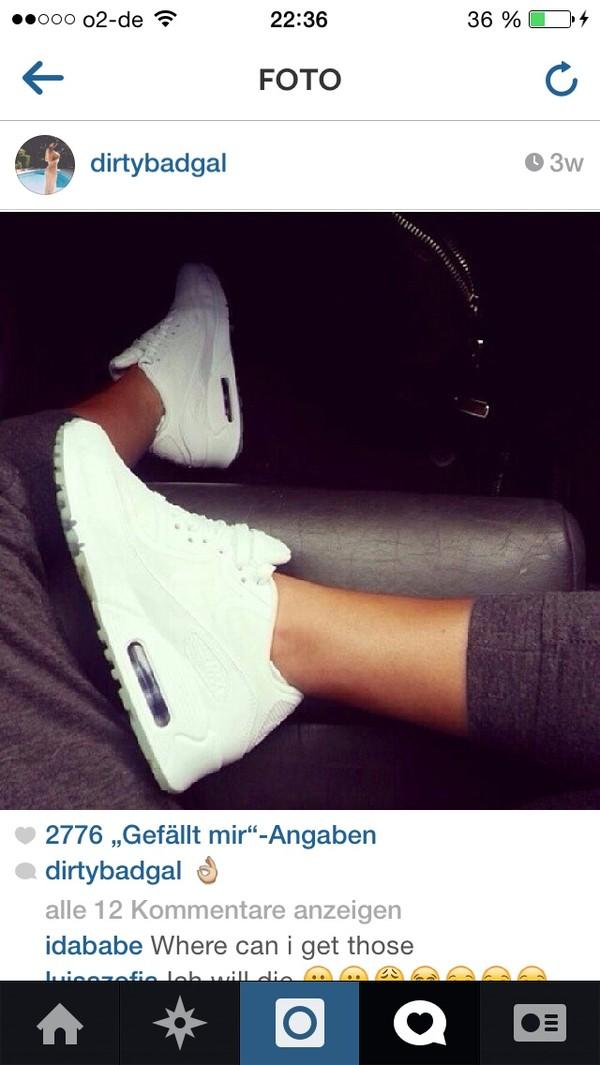 shoes nike nike air max 90 white nike white fashion