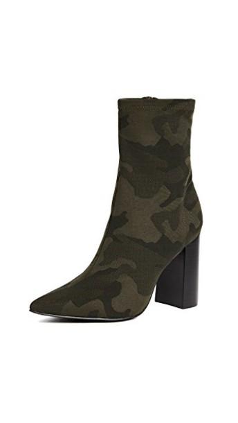heel booties black khaki shoes