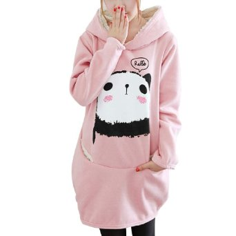 Amazon.com: Allegra K Ladies Cartoon Print Pullover Casual Hooded Sweatshirt: Clothing