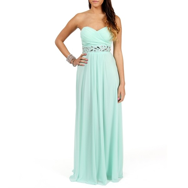 B. Darling Macaria- Mint Beaded Prom Dress - Polyvore