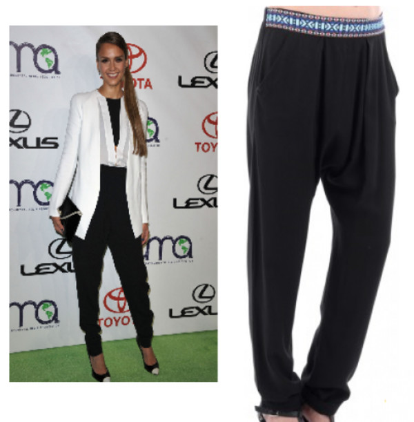 harem pants jessica alba harem trouser celebrity style pants