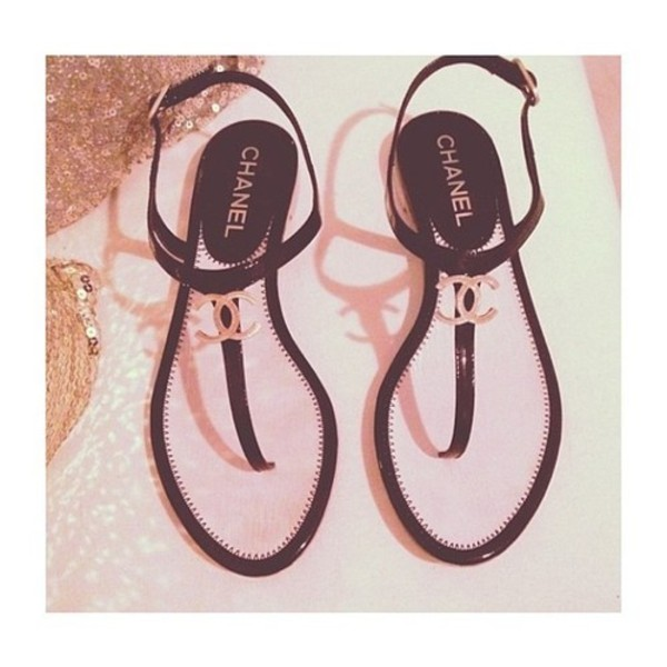 shoes chanel sandals classy summer shoes cc sandals black shoes chanel flats cococ chanel chanel flats coco chanel flats