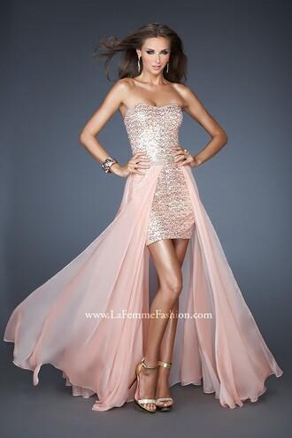 dress special occasion dress prom dress high heels high low dress