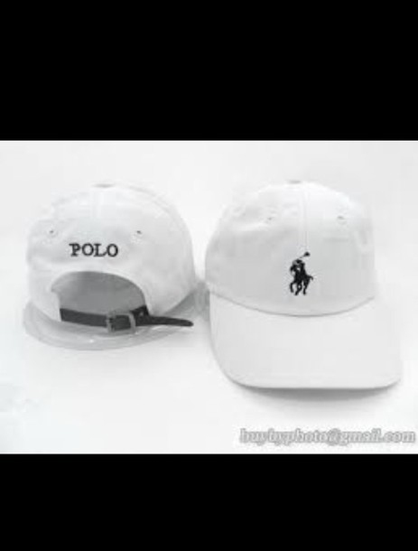 hat black and white polo hat 2e5b6913693