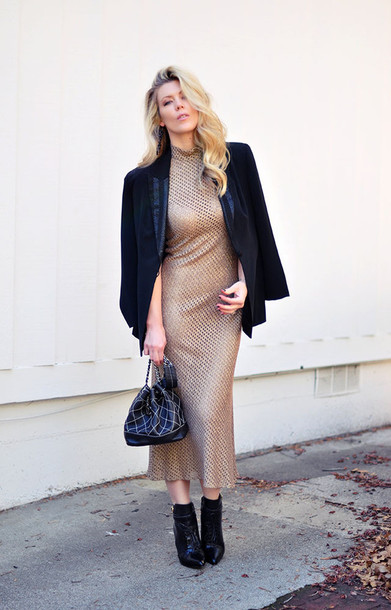 love maegan blogger bag glitter dress mesh blazer
