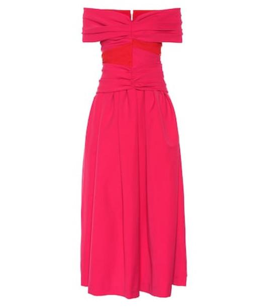 Preen by Thornton Bregazzi Ellie stretch satin midi dress in pink