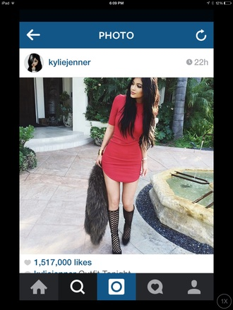 dress kylie jenner red dress