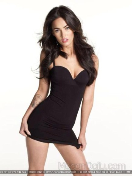 dress megan fox black hot short