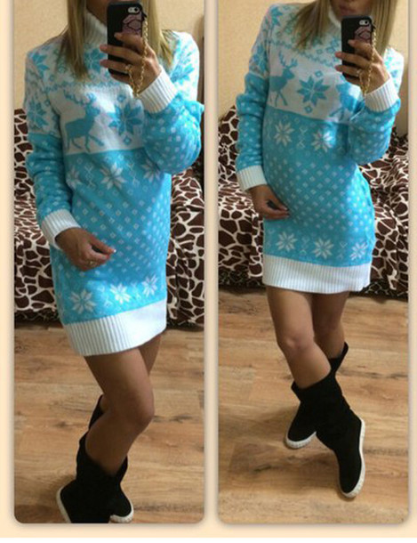 Dress: warm, sweater dress, warm sweater, tumblr outfit, winter ...