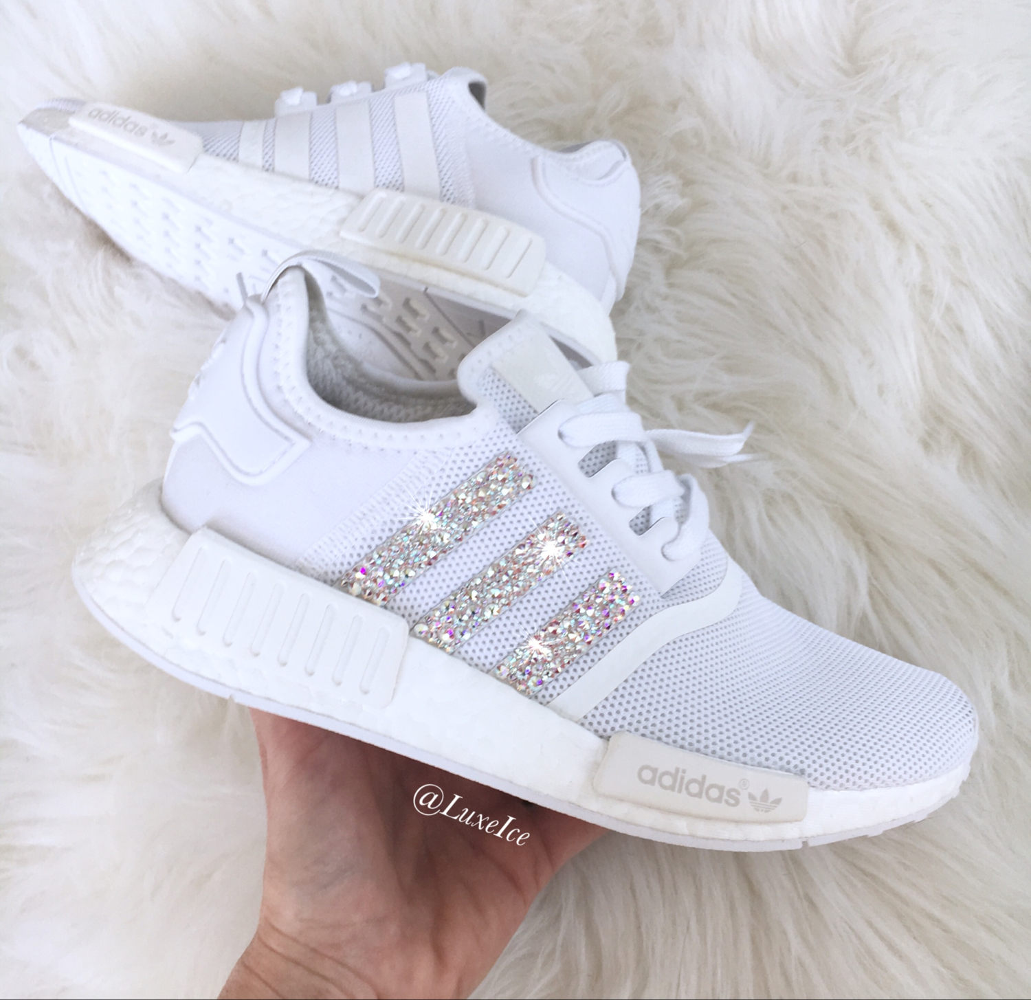 99e01eba1253f Adidas NMD Runner customized with SWAROVSKI® Xirius Rose-Cut Crystals AB.