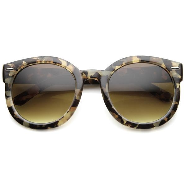 1f93fd835 Womens Designer Round Oversize Retro Fashion Sunglasses 8623