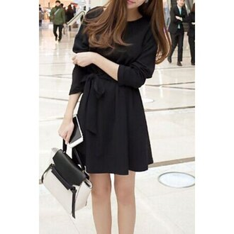 dress wrap dress skater dress all black everything streetwear bag