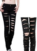 Ropalia hot womens punk hole ripped slit slim skinny jeans pencil pants leggings at amazon women's clothing store: