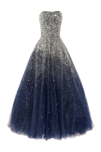 dress prom formal dress marchesa stars prom dress marchesa dress sequins silk princess dress