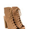 Back it up laced cut-out booties tan olive black beige - gojane.com