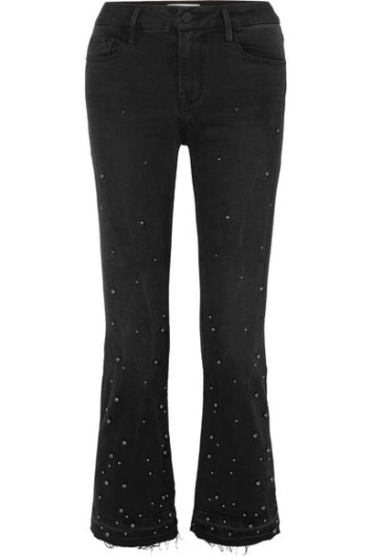 FRAME jeans mini embellished black