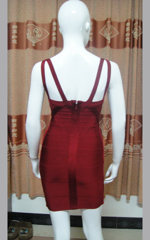 Halter Shoulder Straps Wine Bandage Dress for Women [Halter Shoulder Straps HL Bandage Dress] - $142.00 : Discover Unique Dresses Online at PromUnique.com