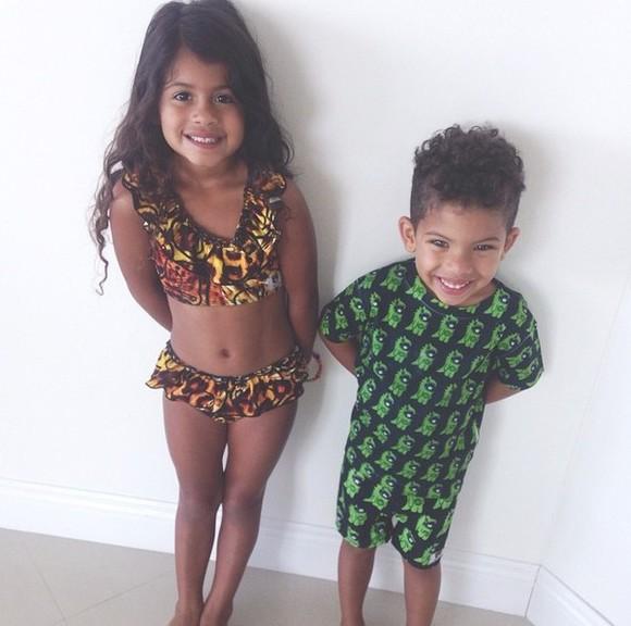 guys girls kids fashion swimwear boy/girl babybear swimming trunks